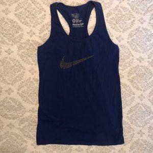 Royal blue razor back Nike tank